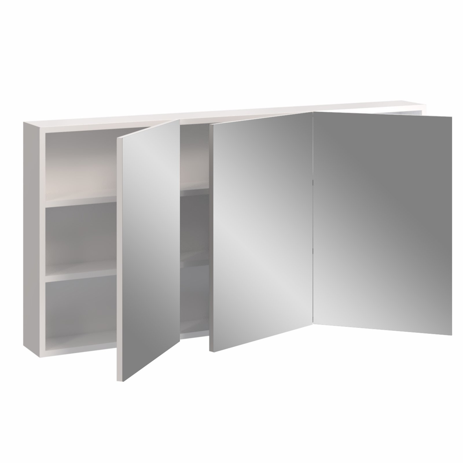 Stein 1200 x 600mm Gloss White Stylo Bathroom Cabinet With Mirror Doors