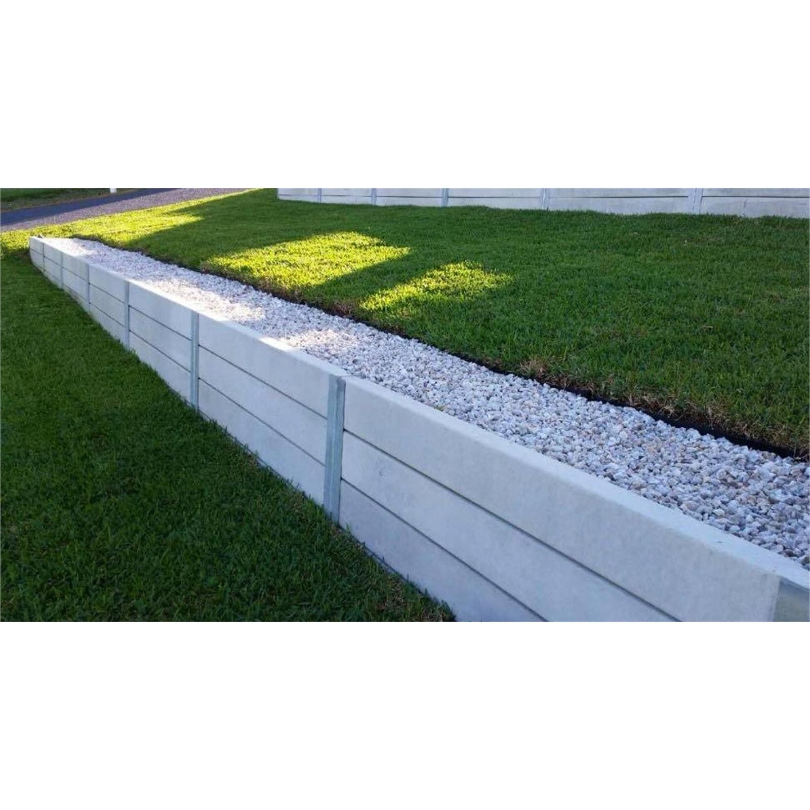 Ridgi 20 x 20mm x 20.20m Smooth Grey Reinforced Concrete Sleeper ...