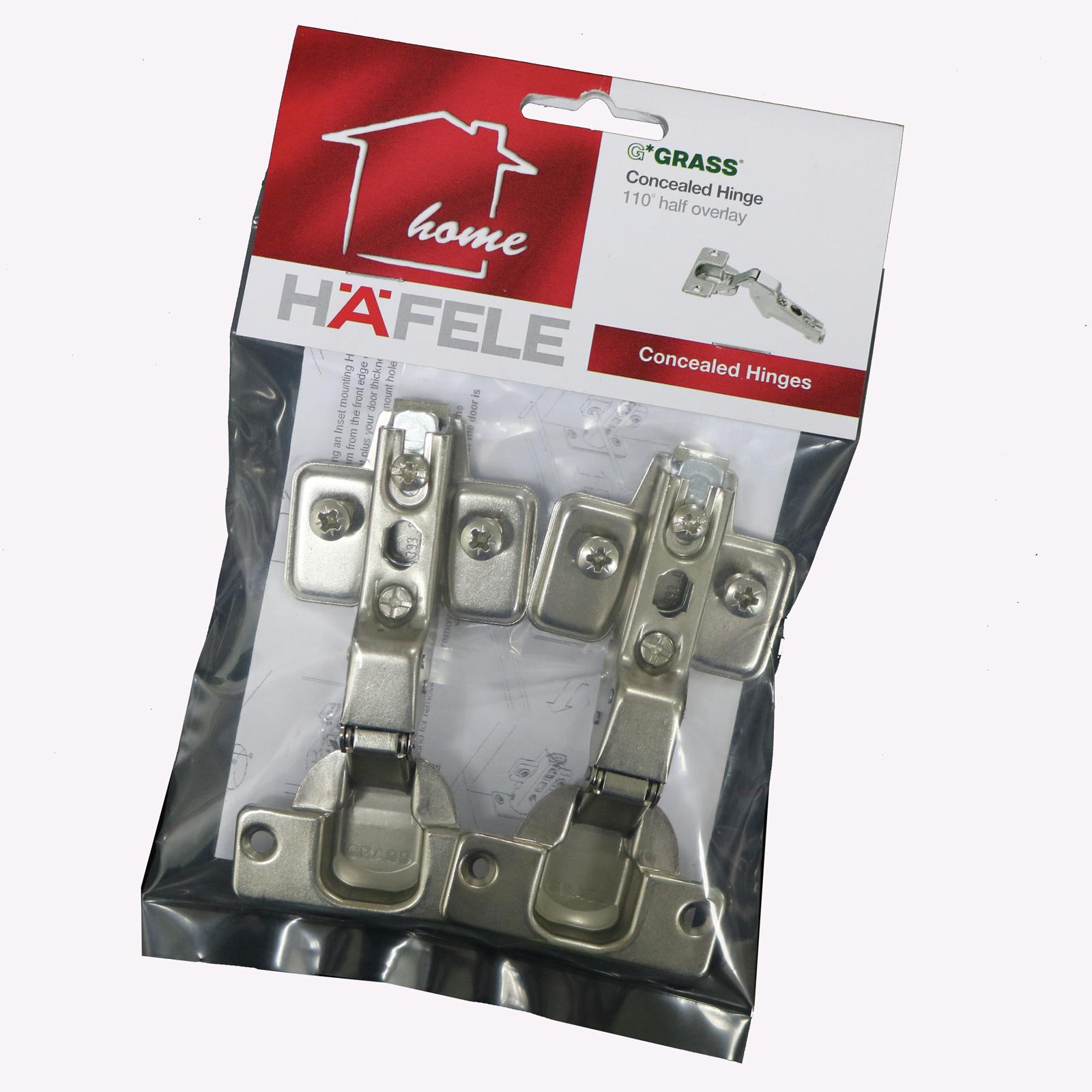 Hafele Grass 110º Half Overlay Hinge - 2 Pack