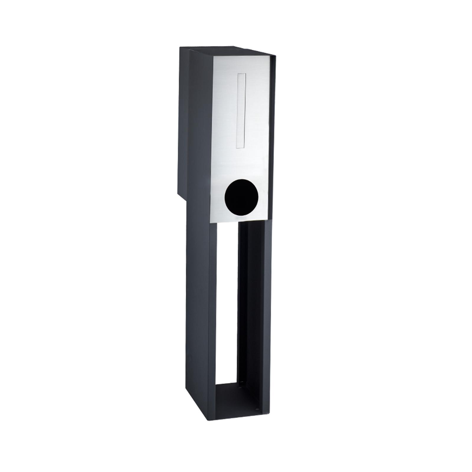 Sandleford Black Stainless Steel Empire Pillar Letterbox