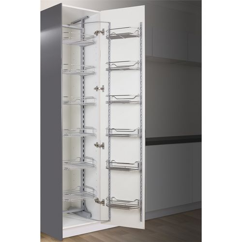 Kaboodle 450mm Chrome 6 Tier Pantry Pullout Baskets