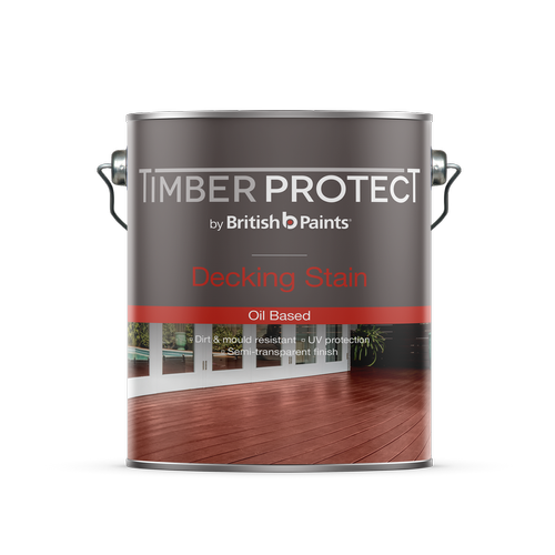 British Paints 4L Timber Protect Merbau Oil Based Decking Stain