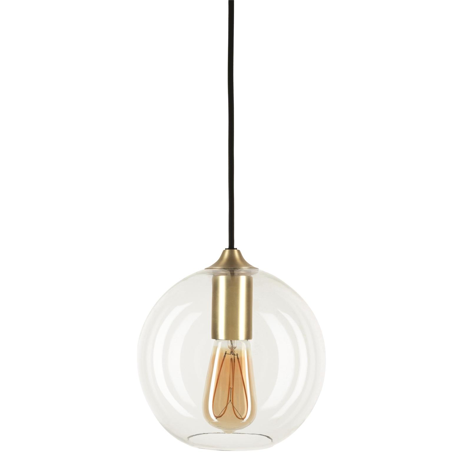 Brilliant Satin Brass DIY  Orb Glass Pendant Light