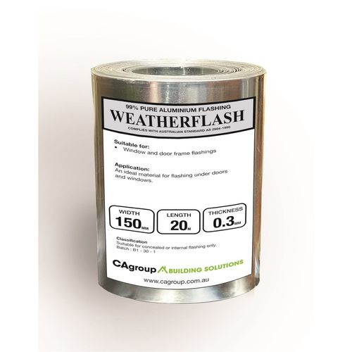 Consolidated Alloys 150 x 0.3mm x 20m Weatherflash