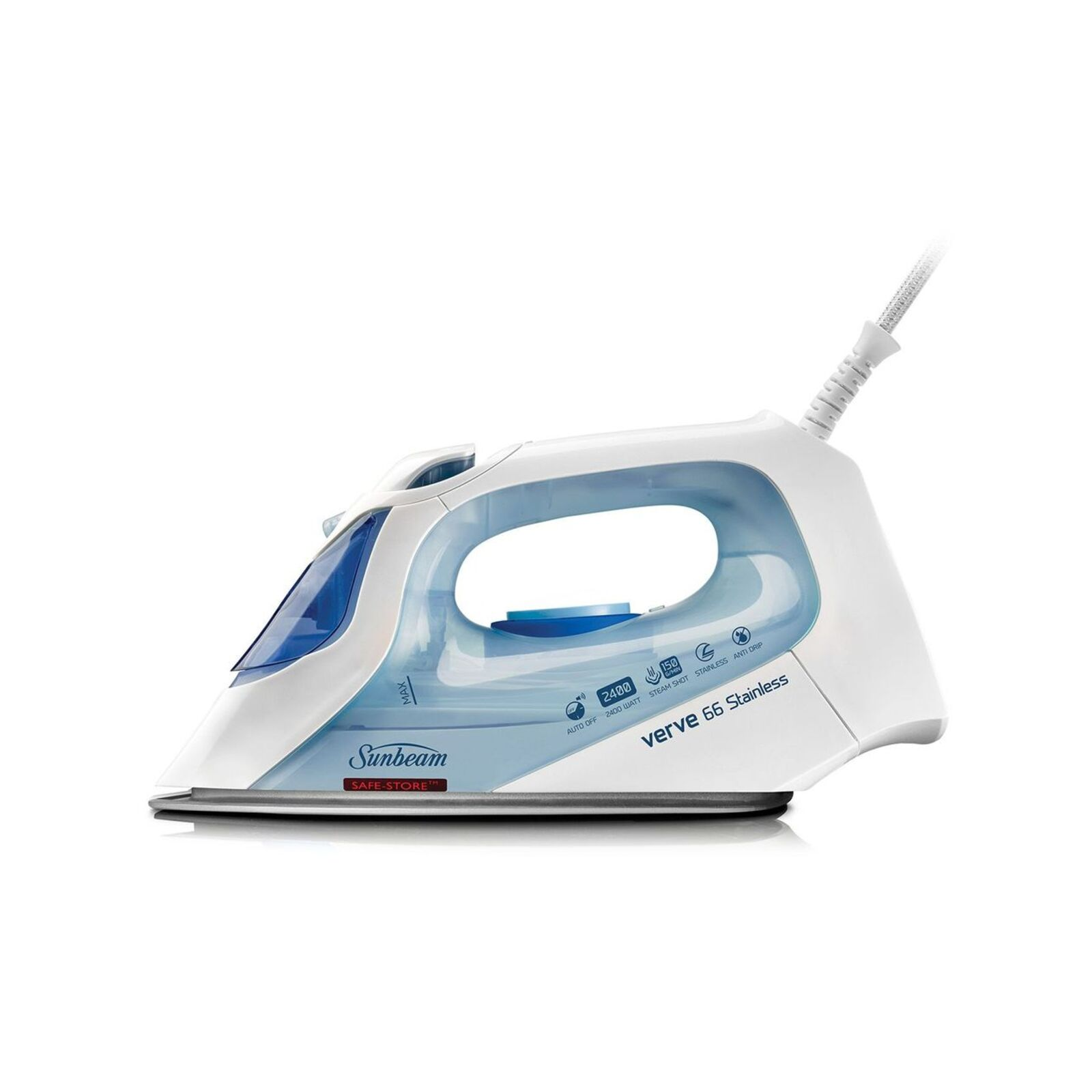 Sunbeam Verve 66 Stainless - Shot & Spray Iron With A/Off