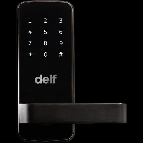 Delf Trade Matt Black Digital Entrance Lock