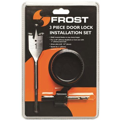 Frost 3 Pce Door Lock Installation Kit