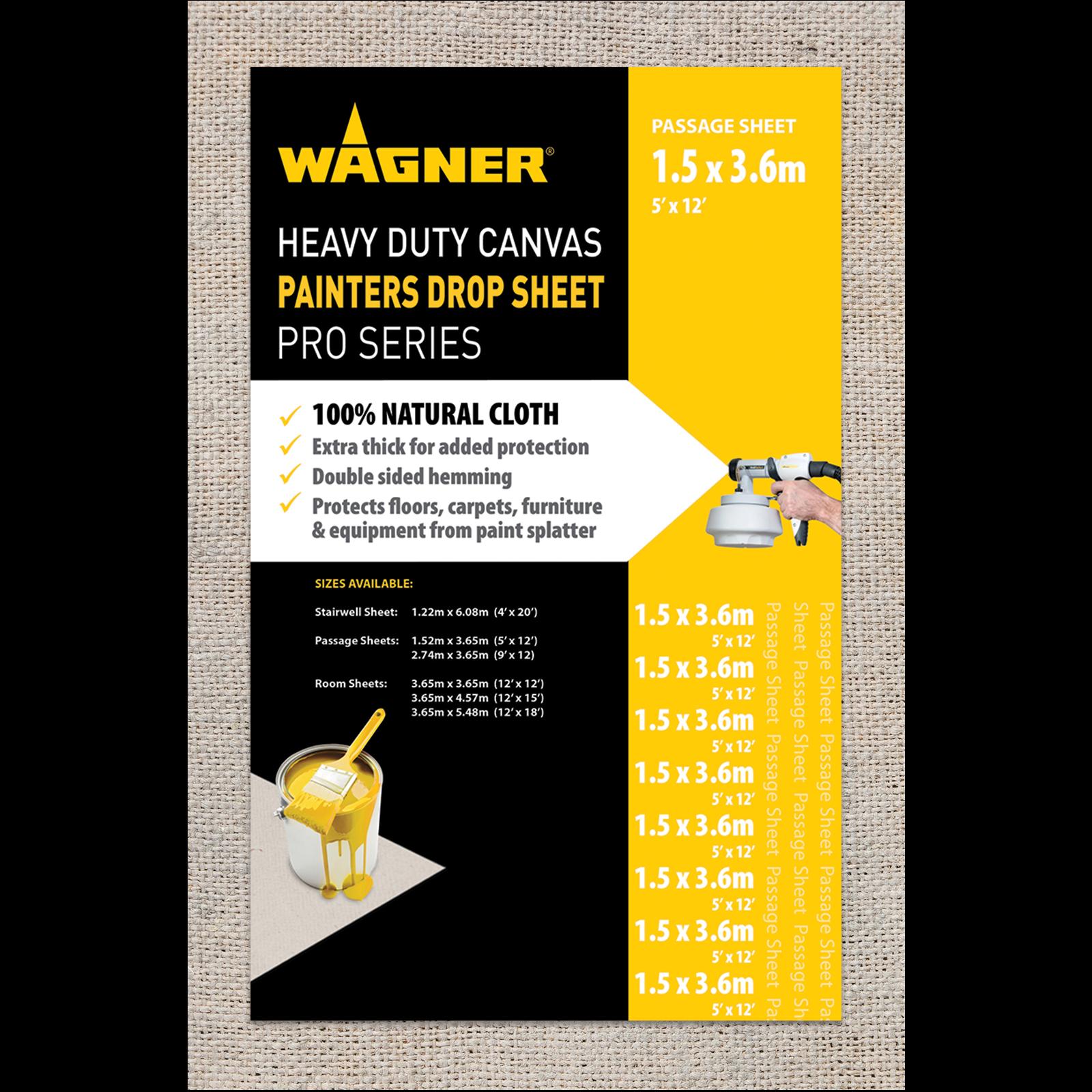 Wagner 1.5 x 3.6m Heavy Duty Canvas Drop Sheet