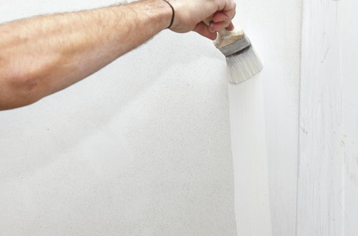 DIY Step Image - How to seal a white set plaster wall . Blob storage upload.
