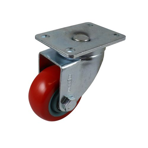 Move It 75mm 120kg Red Poly Swivel Castor