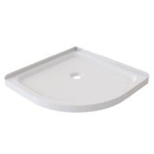 Stein 900 x 900mm 2-Sided Curved Shower Tray