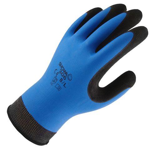 Lynn River Blue Showa 306 Hydrogrip Waterproof Latex Gardening Gloves - Medium