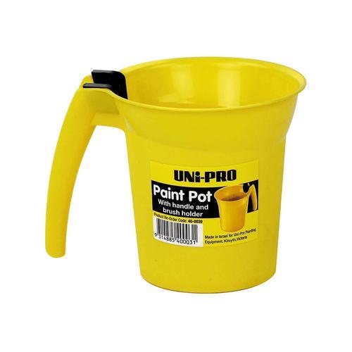 UNi-PRO 600ml Paint Pot With Handle And Brush Holder