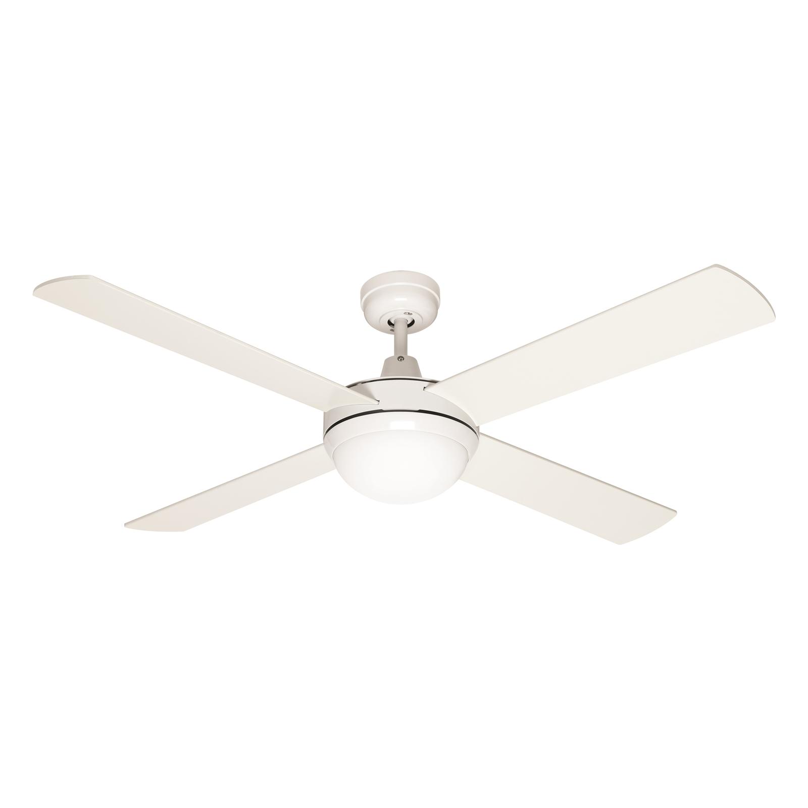 Mercator 130cm White 4 Blade Grange Ceiling Fan With Light