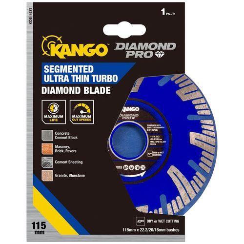 Kango 115mm Segmented Ultra Thin Turbo Diamond Blade