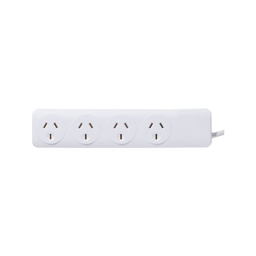 Click White 4 Outlet Powerboard
