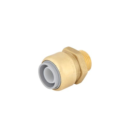 "SmarteX P 20mm x 1 / 2"" Push Fit Brass Pex Male Connector"