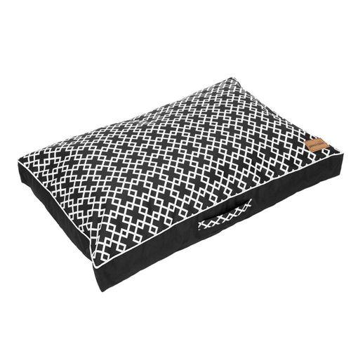 Paws & Claws 90cm x 60cm Fremantle Pillow Pet/Dog Large Bed w/ Non Slip Base BLK