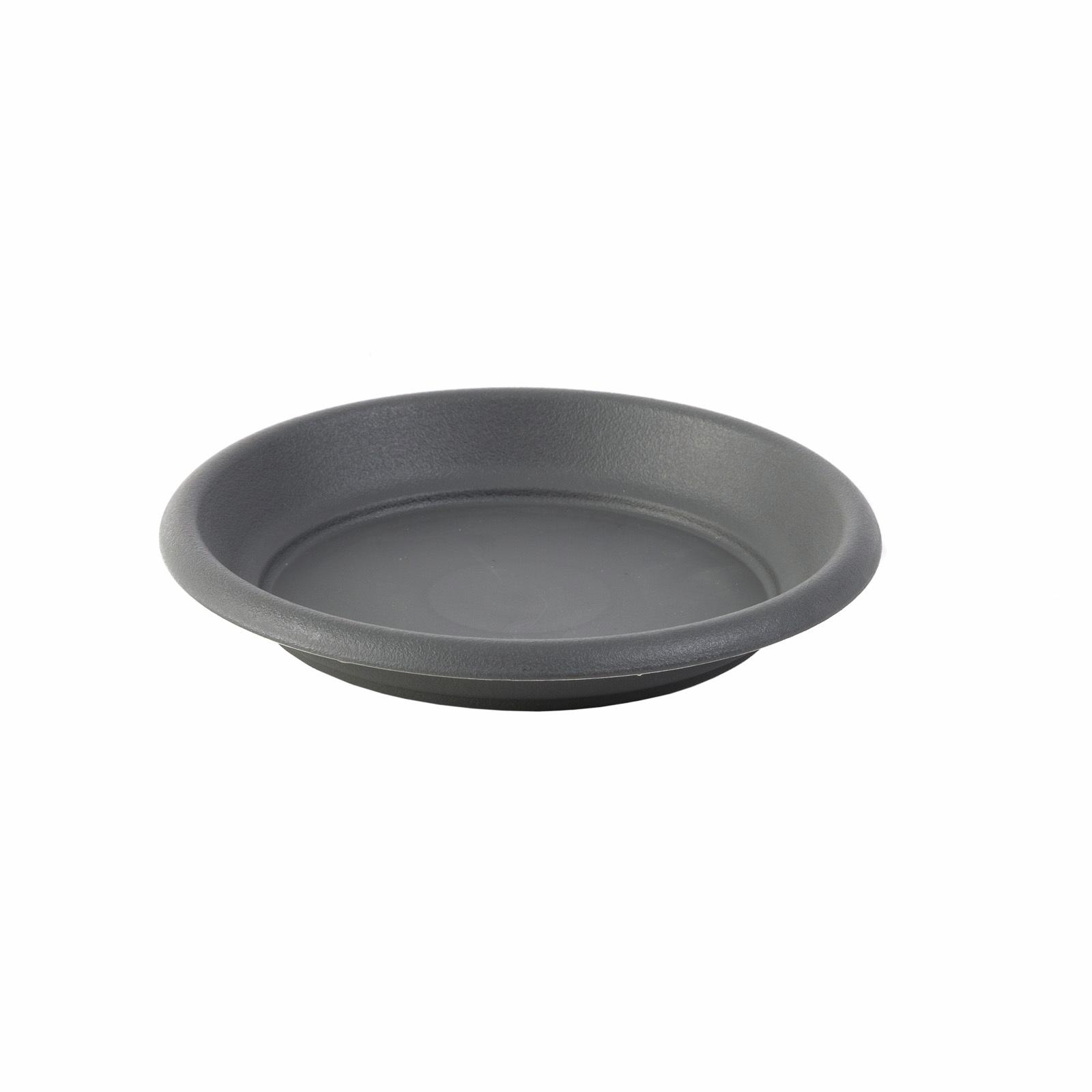 Northcote Pottery Graphite Villa Round Plastic Saucer - 150mm