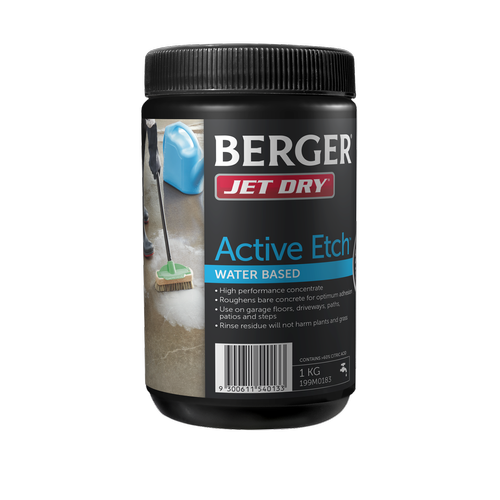 Berger 1kg Jet Dry Water Based Active Etch