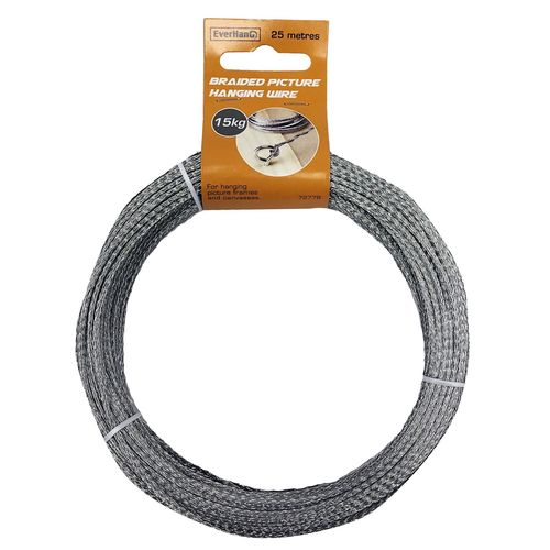 Everhang 25m 15kg Load Braided Picture Hanging Wire