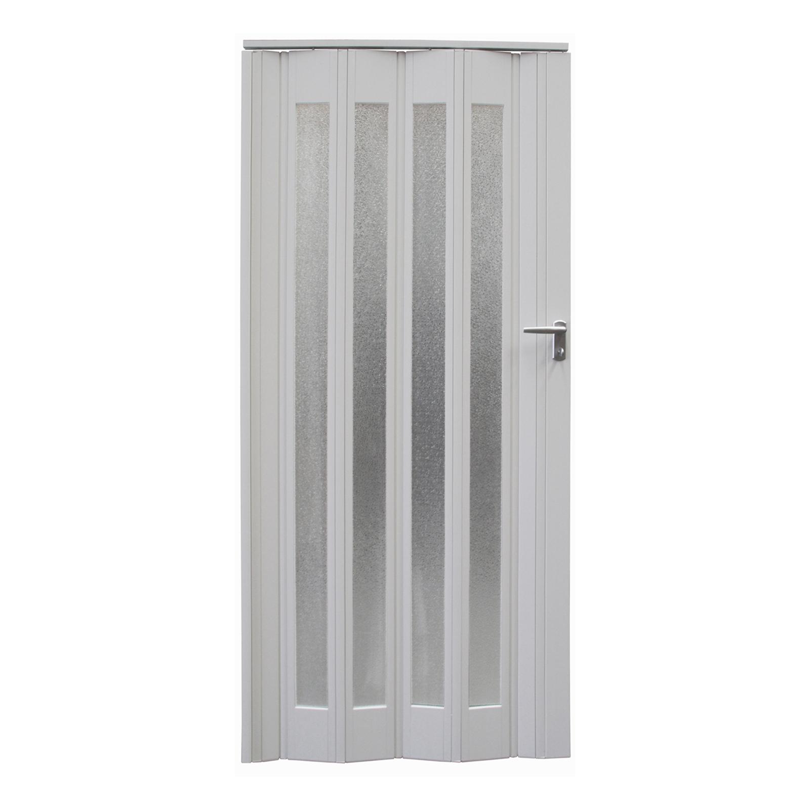 Pillar Products 85 x 203cm White Platinum PVC Concertina Door