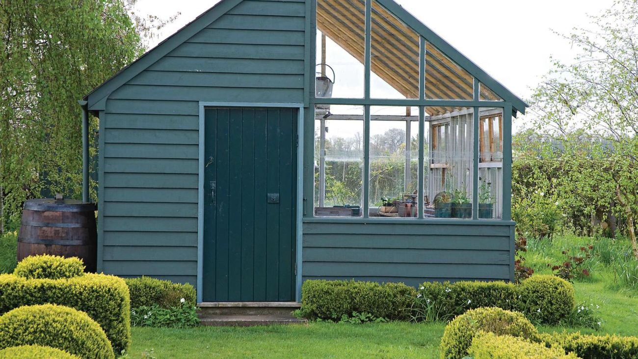 Coloured shed.