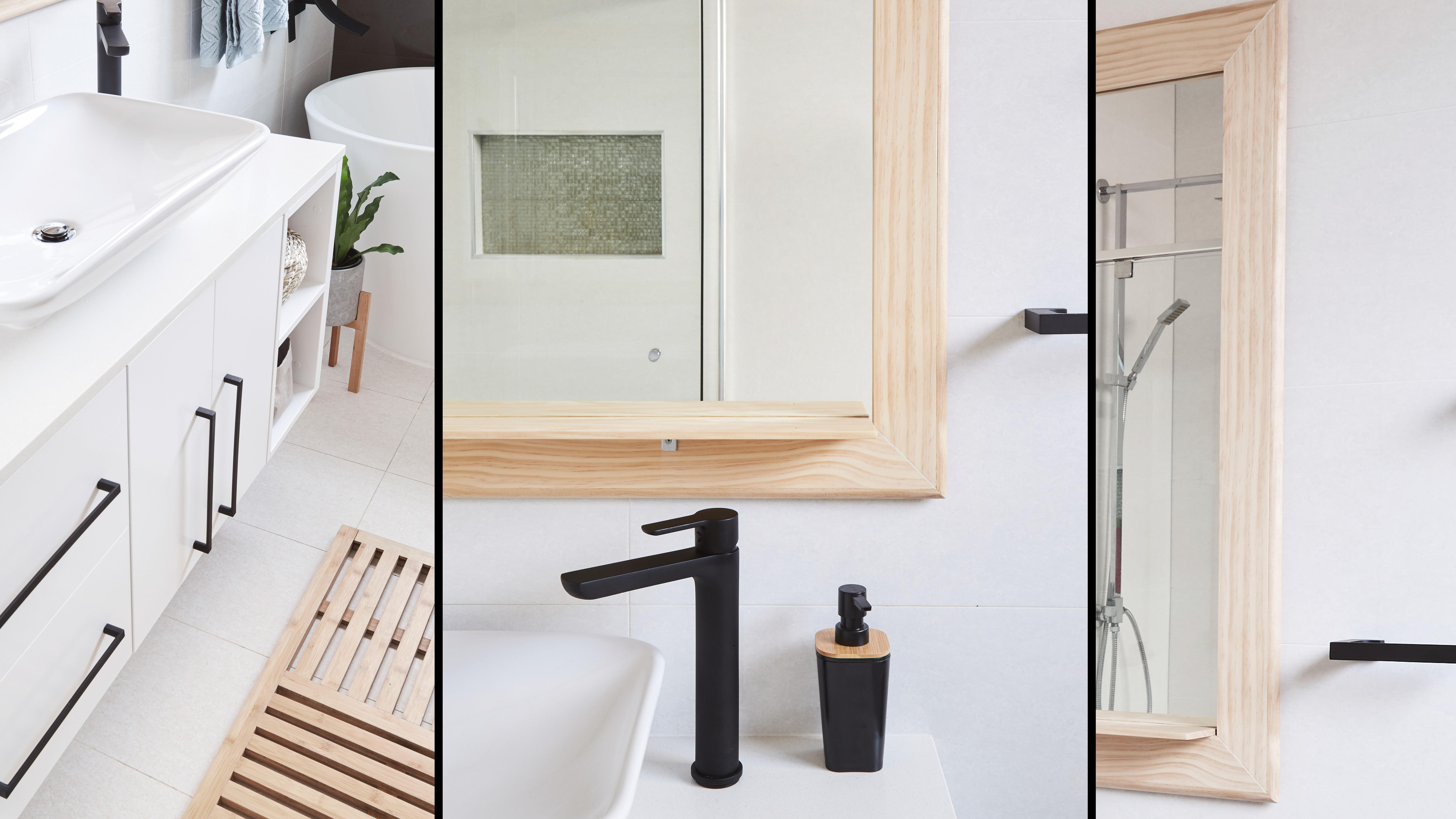 three different makeover bathrooms