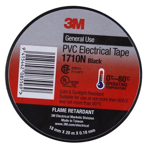 3M Electric/Vinyl Tape 18mmx20m Black