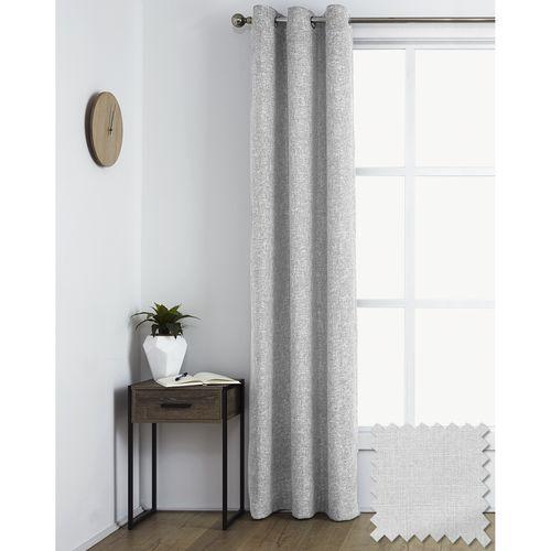 Windoware 1200 x 2230mm Maine Room Darkening Eyelet Curtain - Room Darkening Maine Natural