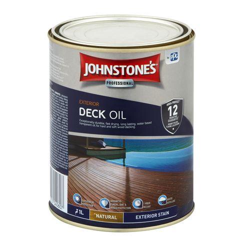 Johnstone's 1L Natural Decking Oil