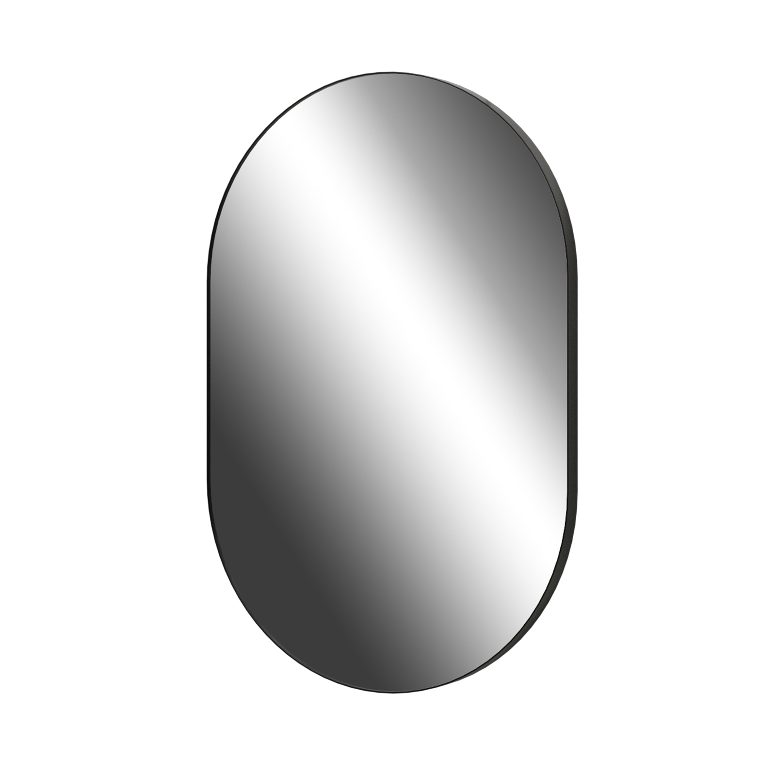 Living Elements 500 x 750 x 26mm Black Framed Oblong Mirror