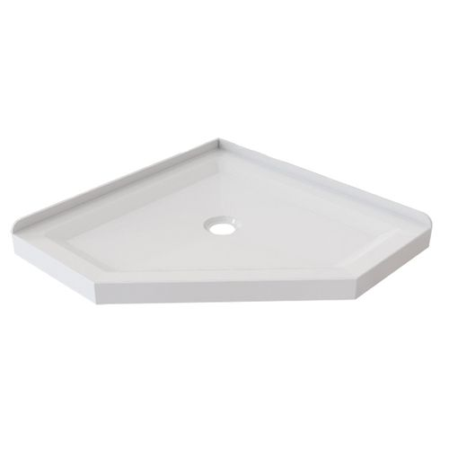 Stein 900 x 900mm White Neo Angle 2 Sided Shower Tray