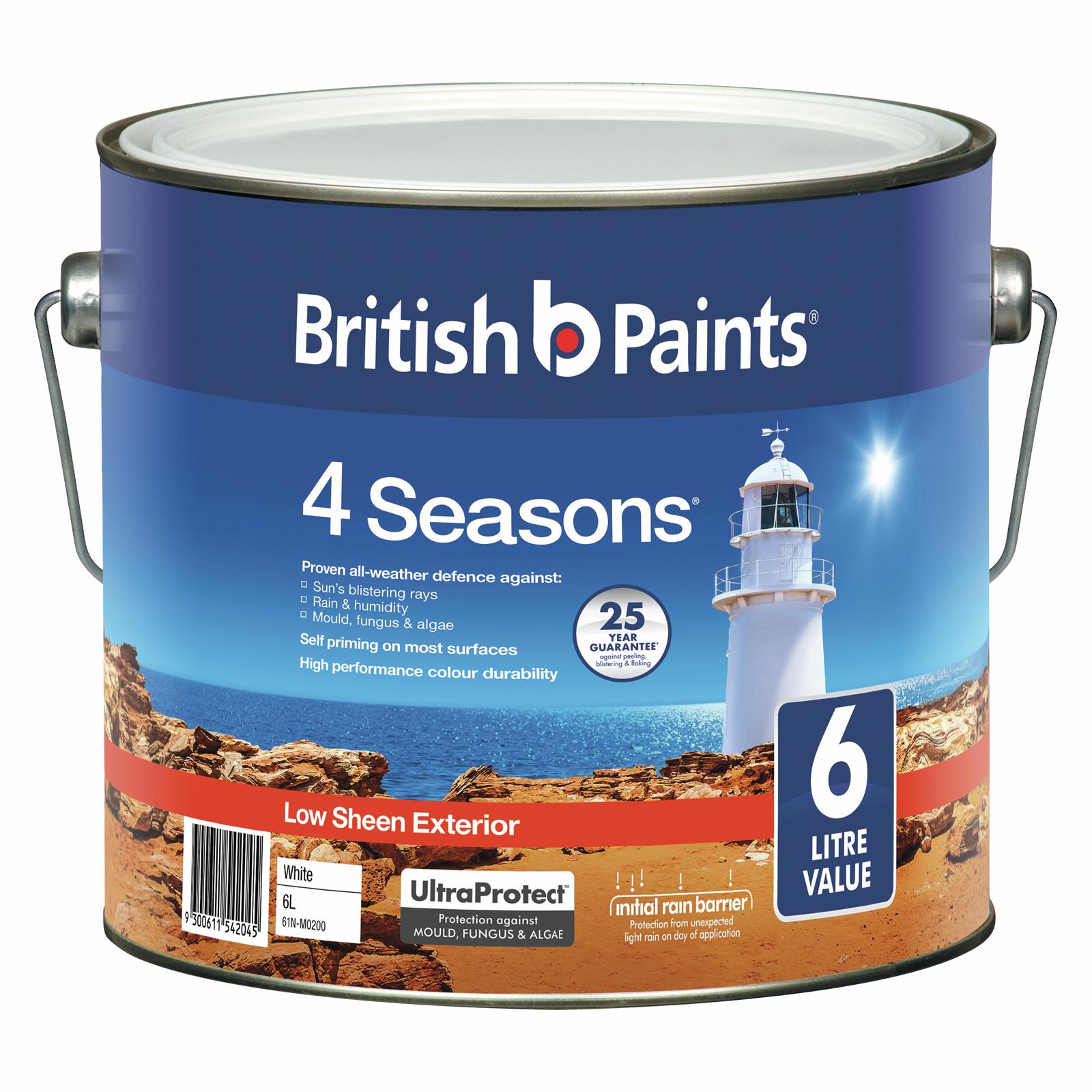 British Paints 6L 4 Seasons White Exterior Paint