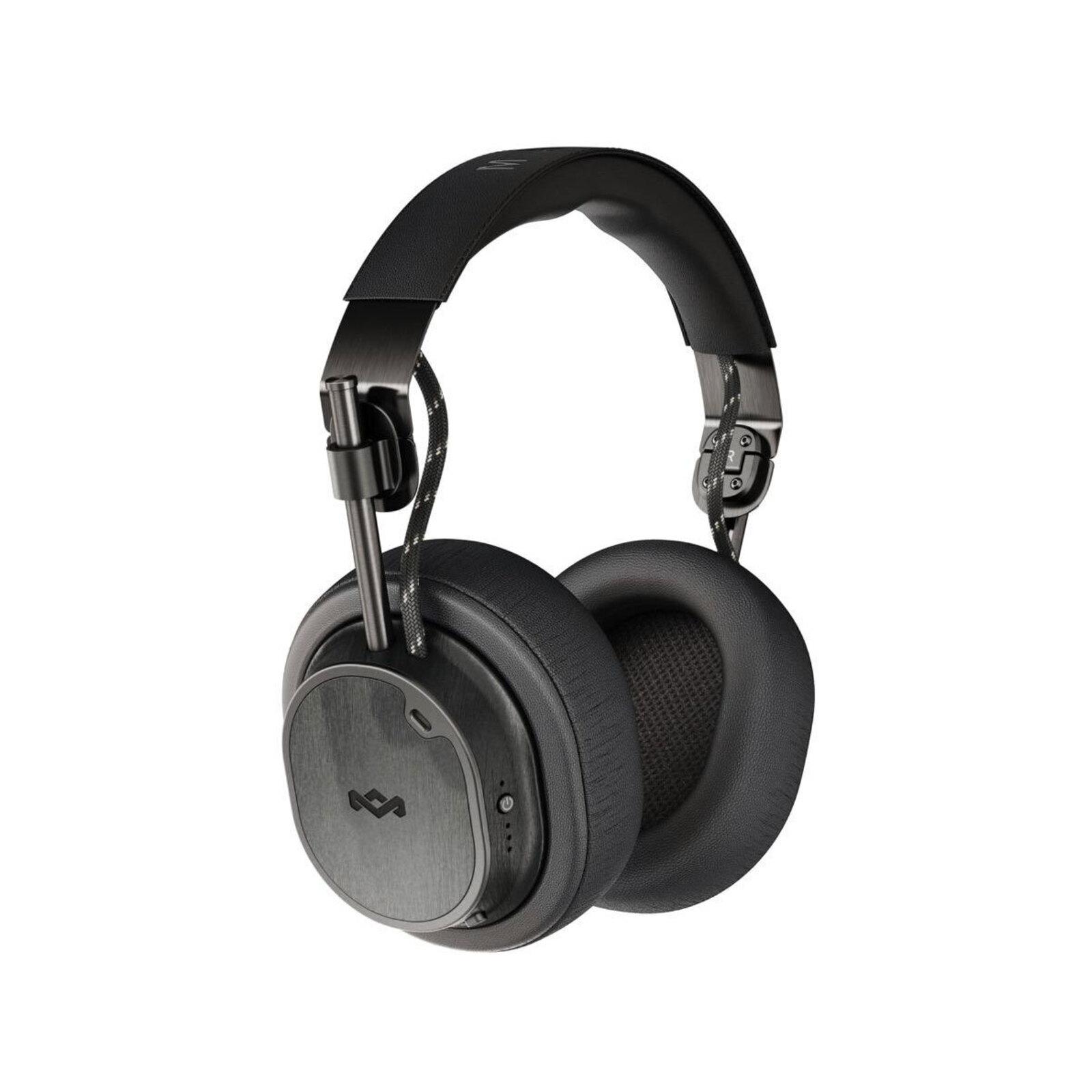 House of Marley ANC Noise Cancelling Bluetooth 5.0 Headphones w/Mic Black Exodus