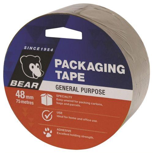 Bear 48mm x 75m Brown Polypropylene Packaging Tape