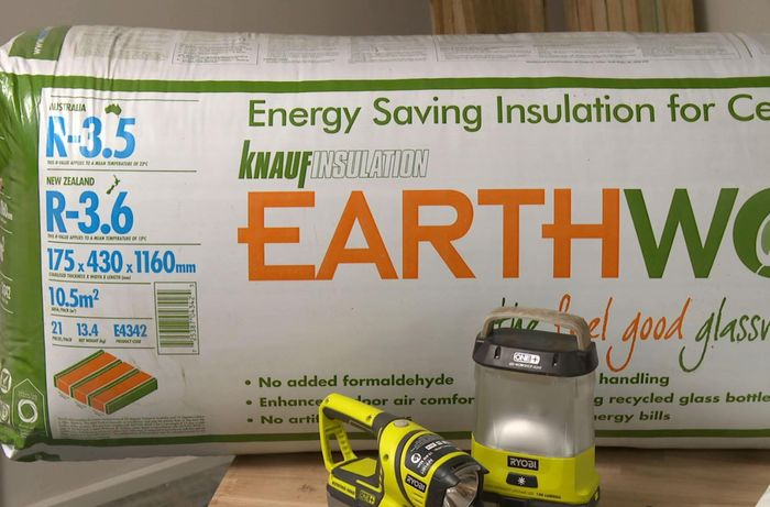 A bag of Earthwool insulation