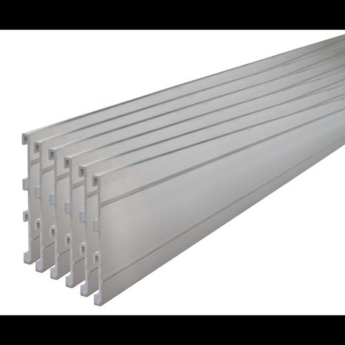 Tuff Edge 2m Brushed Alloy Aluminium Garden Edge - 6 Pack