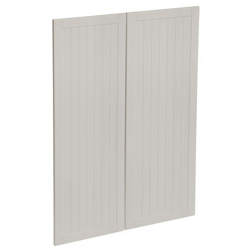 Kaboodle 900mm Cremasala Country Medium Pantry Doors - 2 Pack