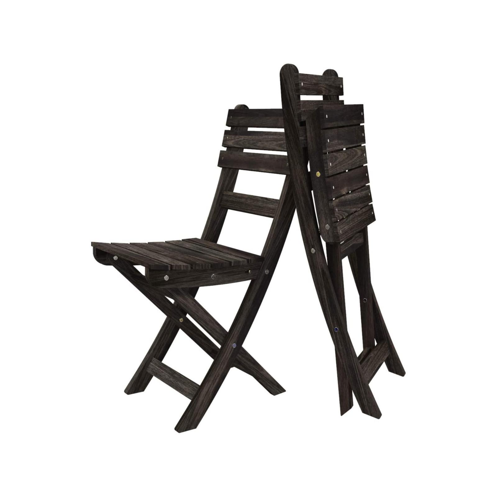 Interbuild Espresso Sofia Folding Chair - 2 Pack