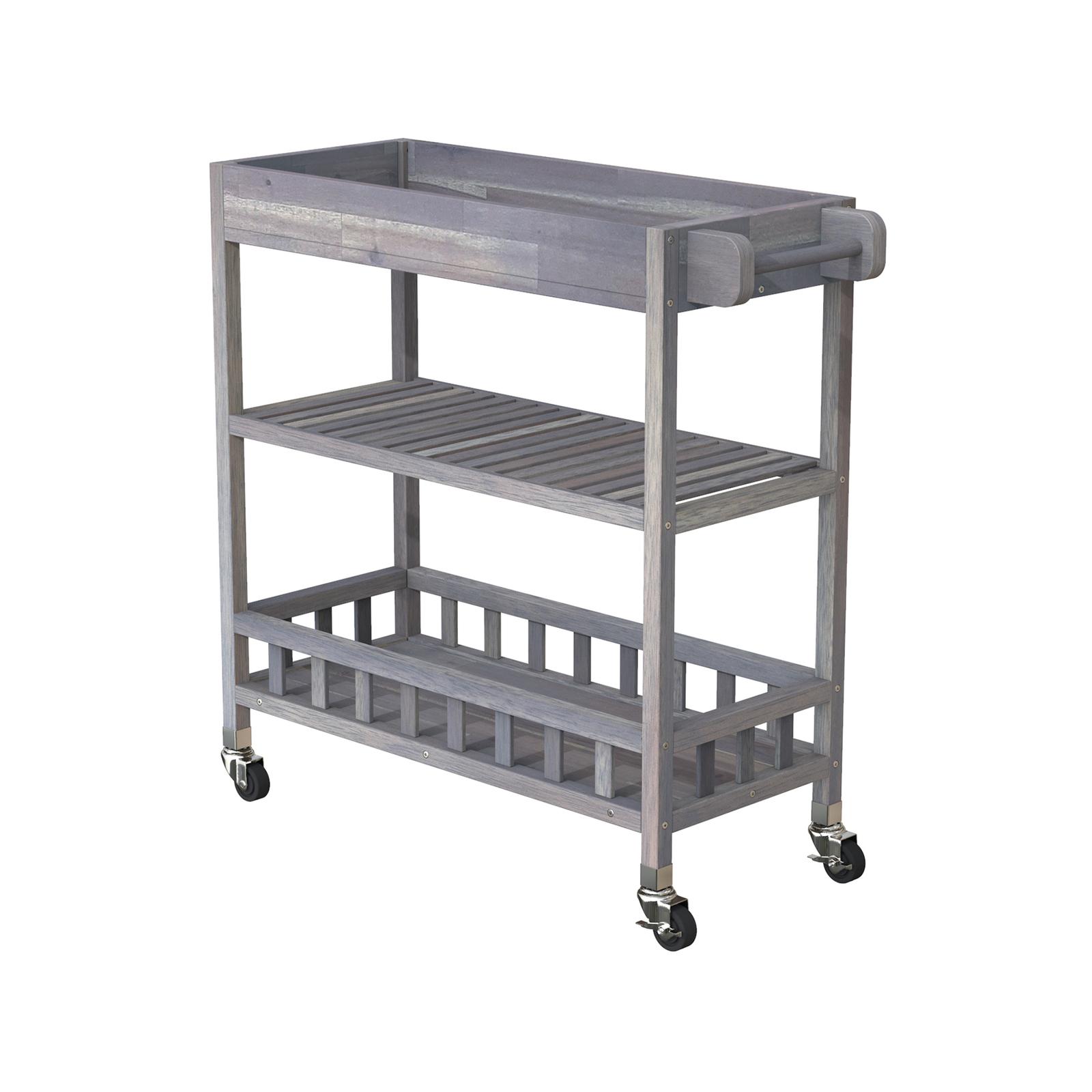 Interbuild 80 x 35 x 85cm Dusk Grey Holger SUV Kitchen Cart