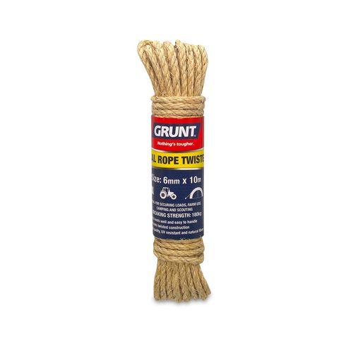 GRUNT 6mm x 10m Sisal Twisted Rope