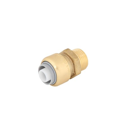 "SmarteX P 16mm x 1 / 2"" Push Fit Brass Pex Male Connector"