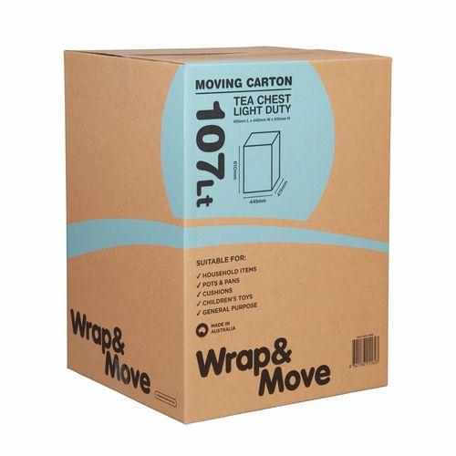 Wrap & Move 107L Light Duty Tea Chest Moving Carton