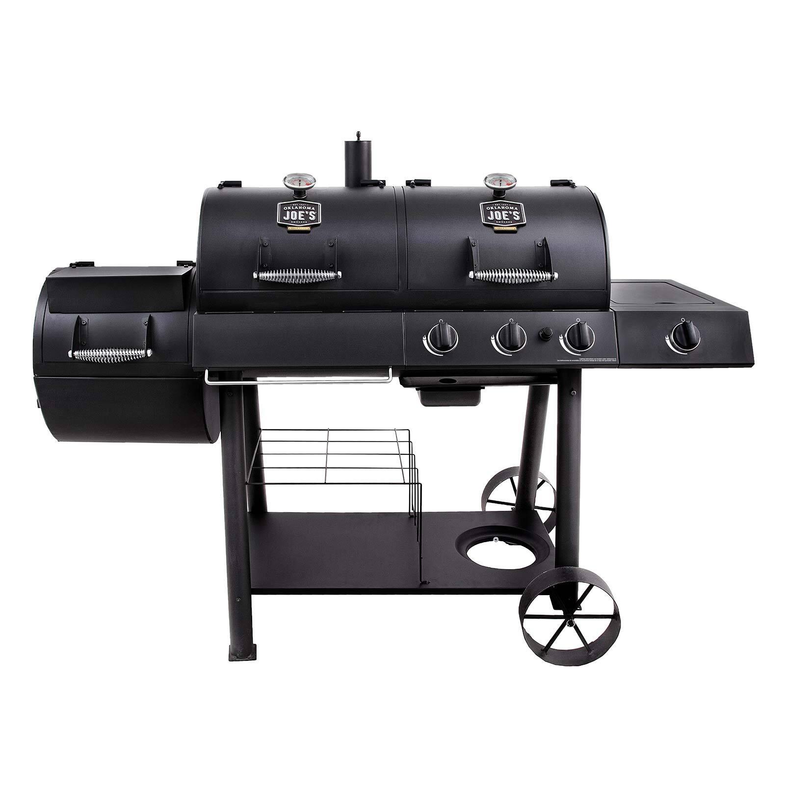 Oklahoma Joe's 'Longhorn Combo' Charcoal/Gas Smoker & Grill