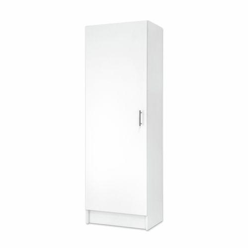 Bedford 600mm White Tall 1 Door High Moisture Resistant Slimline Cabinet