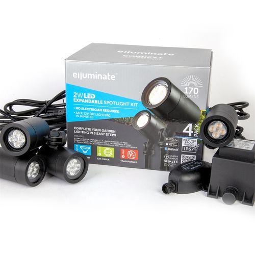 Elluminate Bluetooth Spot Garden Kit - 4 Pack