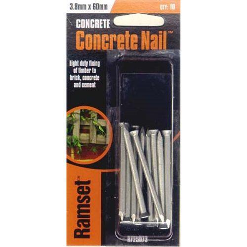 Ramset Concrete Nail 3.8 x 60mm 10pk