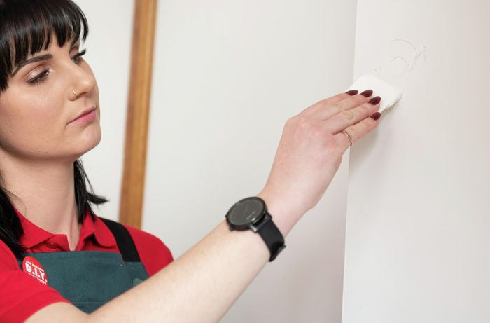 DIY Step Image - How to install new wardrobe handles. Blob storage upload.