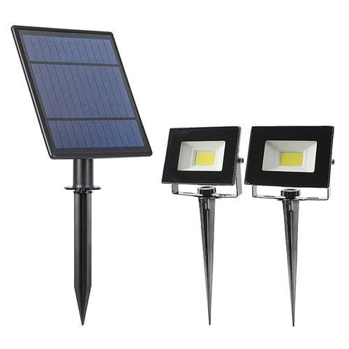 Gardenglo 500lm Solar Powered Twin Flood Lights